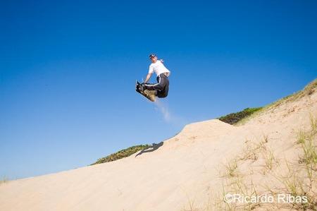 Duda nas dunas da Praia Grande, em São Francisco do Sul.