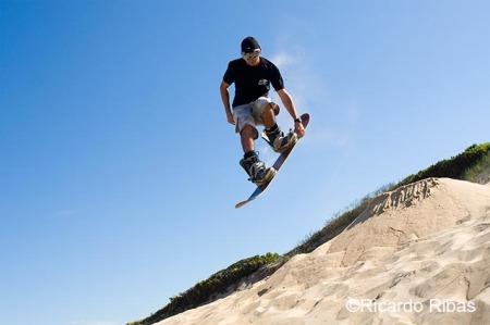 Digi nas dunas da Praia Grande, em São Francisco do Sul.